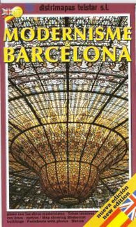 Buy map Barcelona, Modern Architecture by Distrimapas Telstar, S.L.