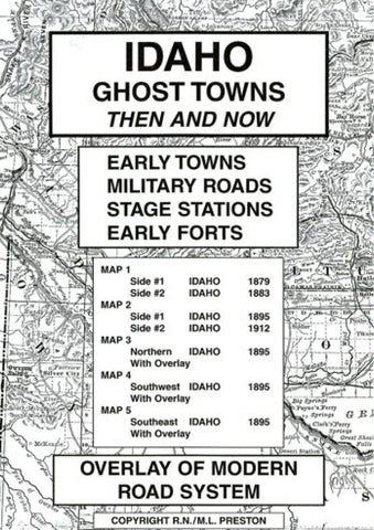 Buy map Idaho, Ghost Towns, 5-Map Set, Then and Now by Northwest Distributors