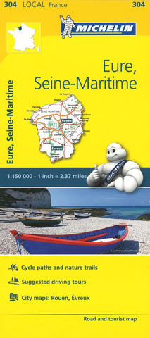 Buy map Michelin: Eure, Seine Maritime, France Road and Tourist Map by Michelin Travel Partner