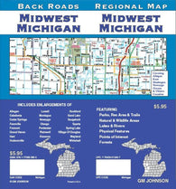 Buy map Michigan, Midwestm Back Roads by GM Johnson