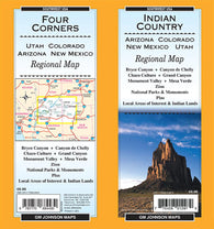 Buy map Indian Country-Arizona, Colorado, New Mexico and Utah by GM Johnson