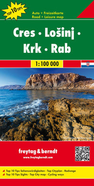 Buy map Cres, Losinj, Krk and Rab, Croatia, Top 10 tips by Freytag-Berndt und Artaria