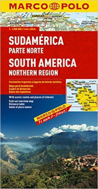 Buy map South America, North by Marco Polo Travel Publishing Ltd