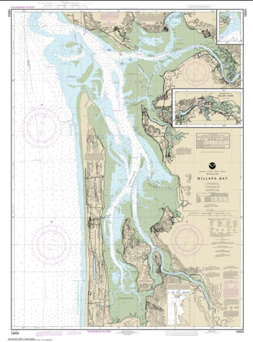 Buy map Willapa Bay; Toke Pt. (18504-66) by NOAA