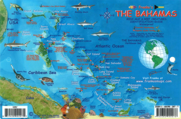 Buy map Bahamas Fish Card, Bahamas Fish Card by Frankos Maps Ltd.