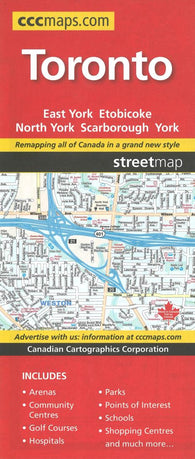 Buy map Toronto, Ontario Street Map by Canadian Cartographics Corporation