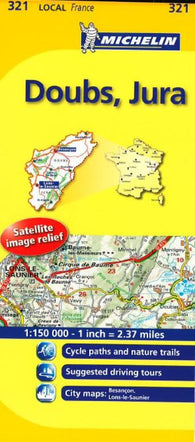 Buy map Doubs, Jura (321) by Michelin Maps and Guides