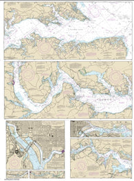 Buy map Potomac River; District of Columbia (12285-41) by NOAA