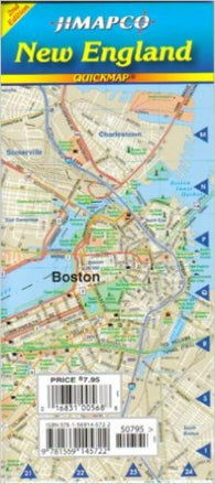 Buy map New England, Quickmap by Jimapco