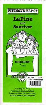 Buy map La Pine and Sunriver, Oregon by Pittmon Map Company