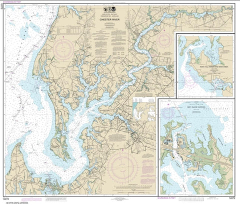 Buy map Chester River; Kent Island Narrows, Rock Hall Harbor and Swan Creek (12272-32) by NOAA