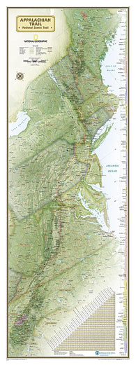 Buy map Appalachian Trail Wall Map, Boxed by National Geographic Maps