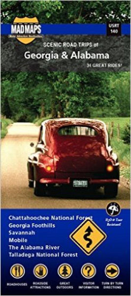 Buy map Georgia and Alabama, Regional Scenic Tours by MAD Maps