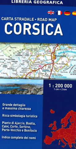 Buy map Corsica, Road Map by Libreria Geografica