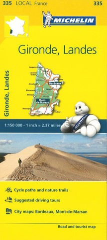 Buy map Michelin: Gironde, Landes, France Road and Tourist Map by Michelin Travel Partner