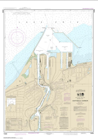 Buy map Ashtabula Harbor (14836-28) by NOAA