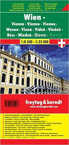 Buy map Vienna, Austria, pocket map by Freytag-Berndt und Artaria