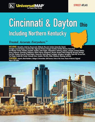 Buy map Cincinnati & Dayton, OH, with N Kentucky, Street Atlas by Kappa Map Group