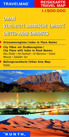 Buy map Oman and the United Arab Emirates by Kunth Verlag