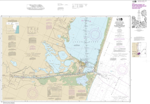 Buy map Intracoastal Waterway Stover Point to Port Brownsville, including Brazos Santiago Pass (11302-34) by NOAA