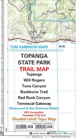 Buy map Topanga State Park, California by Tom Harrison Maps