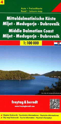 Buy map Croatia, Middle Dalmatian Coast, Mljet, Medjugorje and Dubrovnik by Freytag-Berndt und Artaria