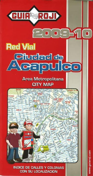 Buy map Acapulco, Mexico, Metropolitan Area by Guia Roji