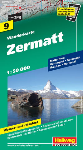 Buy map Zermatt Hiking Map by Hallwag