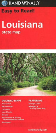 Buy map Louisiana by Rand McNally