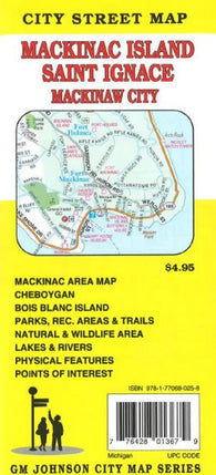 Buy map Mackinac Island, Saint Ignace and Mackinaw City, Michigan by GM Johnson