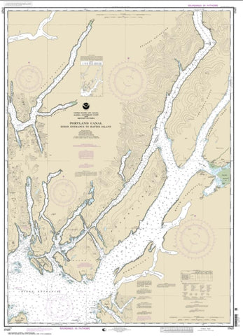 Buy map Portland Canal - Dixon Entrance to Hattie I. (17427-7) by NOAA