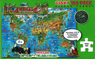 Buy map Dinos Animals of the World, 300 Piece Puzzle by Dino Maps