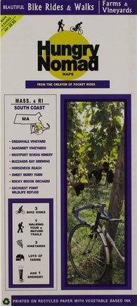 Buy map Massachusetts and Rhode Island, South Coast, Farm and Vineyards by Rubel BikeMaps