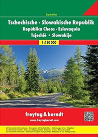 Buy map Czech Republic and Slovakia, Superatlas by Freytag-Berndt und Artaria