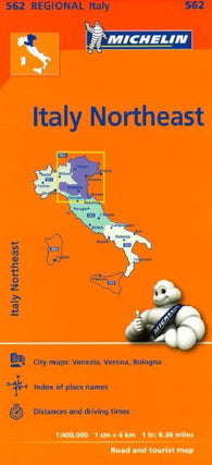 Buy map Italy, Northeast (562) by Michelin Maps and Guides