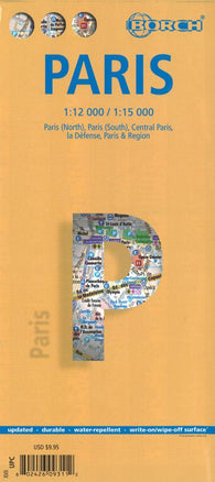 Buy map Paris, France by Borch GmbH.