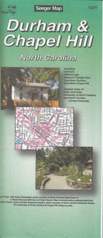 Buy map Durham and Chapel Hill, North Carolina by The Seeger Map Company Inc.
