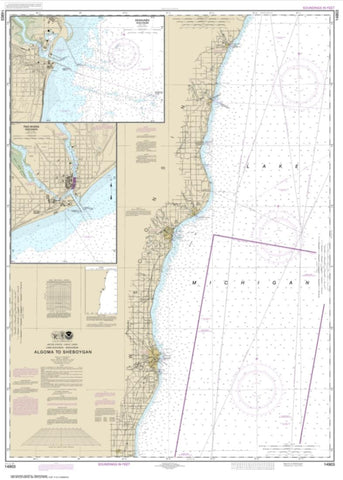 Buy map Algoma to Sheboygan; Kewaunee; Two Rivers (14903-24) by NOAA