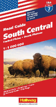 Buy map USA 7: South Central, Central Plains and Ozark Plateau by Hallwag