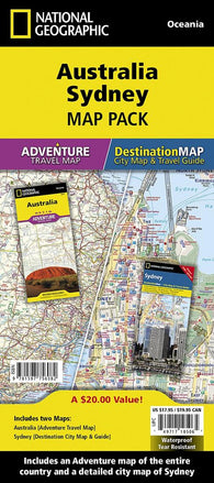 Buy map Australia & Sydney, Map Pack Bundle by National Geographic Maps