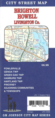 Buy map Brighton, Howell & Livingston County City Street Map by GM Johnson
