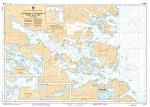 Buy map Approaches to/a White Bear Arm by Canadian Hydrographic Service