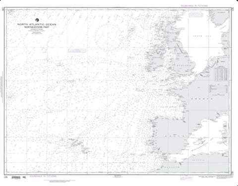 Buy map North Atlantic Ocean - Northeastern Part (NGA-126-39) by National Geospatial-Intelligence Agency