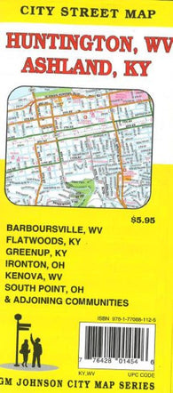 Buy map Huntington, West Virginia and Ashland, Kentucky by GM Johnson