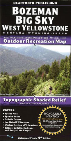 Buy map Bozeman, Big Sky and West Yellowstone, Montana by Beartooth Publishing