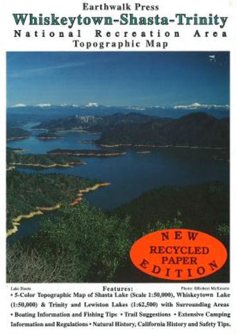 Buy map Whiskeytown, Shasta and Trinity, California by Earthwalk Press
