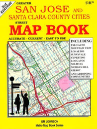 Buy map San Jose and Santa Clara County, CA, Street Map Book by GM Johnson