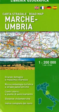 Buy map Marche-Umbria, Italy, Road Map by Libreria Geografica