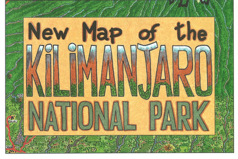 Buy map Kilimanjaro National Park by GT Maps