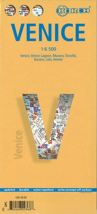 Buy map Venice, Italy by Borch GmbH.